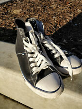 Mens SuperDry Hi Top Sneakers Size 8 Black Retro Style Classic Americana Shoes
