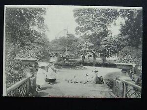 Derbyshire BUXTON GARDENS Feeding the Pigeons c1903 UB Postcard by Valentine