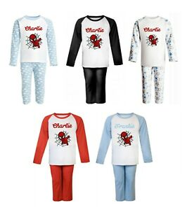 Spiderman Personalised Pyjamas with name - 5 Styles available