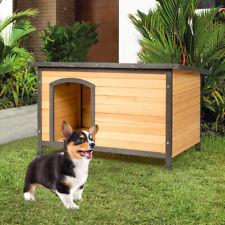 Hundehütte Holz Hundehaus Hundehöhle für Hunde Katzen Haustiermöbel 84,5x62x56cm