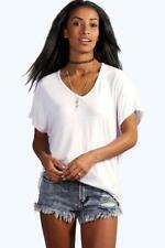 Maglie e camicie da donna bianchi scollo a v , Taglia 46