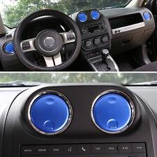 For 2010-2016 Patriot Compass Air Vent Outlet Cover Trim Decoration Blue 4Pcs