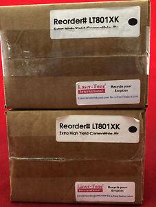 Lexmark 80C1XK0, 801XK Extra Hi-Yld Compatible Toner- Black 2 Pack Free Shipping