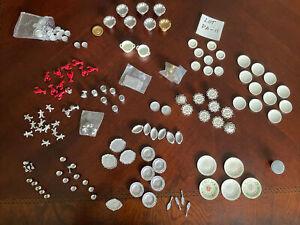 dollhouse Miniatures Pewter Kitchen Accessories Lot, 1:12, Vintage, New