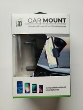 LAX Phone Holder Car Mount with Suction Cup for Dashboard and Windshield