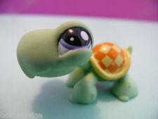 petshop tortue verte jaune orange / green yellow turtle N° 1942