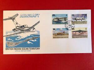 BRITISH INDIAN OCEAN BIOT 1992 FDC AIRCRAFT