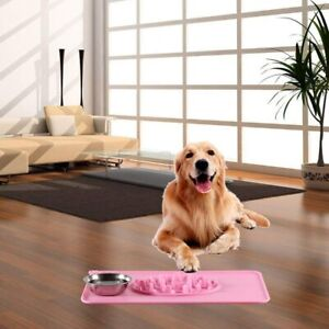 2-in-1 Pet Feeding Mat, Dog Slow Feeder Bowl with Silicone Non-Slip
