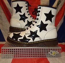 Rare Stella*Black White Star Dr Doc Martens*Kitsch Kawaii Quirky Goth Grunge*UK6