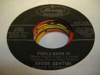 Rock  45 BROOK BENTON Fools Rush In on Mercury
