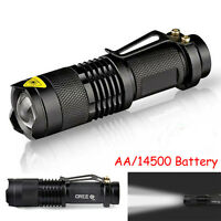 300LM Mini CREE Q5 LED Flashlight Torch Adjustable Focus Zoomable Light Lamp Hot