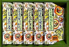 Japanese Green Tea Gift 204 (●Gyokuro ●Karigane ●Kabusecha ●Sencha ●Genmaicha)