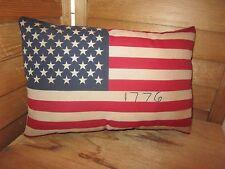 Primitive Flag Pillow - Americana - stitched 1776 -