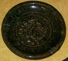 VTG POTTERY DISH OKLAHOMA A&M TECH BUCKING BRONCO HORSE COWBOY ROUND UP I.T. OK