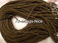 """VELVET 18"""" Necklace 4mm BROWN ROUND Strings Fashion Jewellery Pendant Cord 20"""