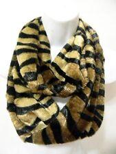 Fashion Design Fur Tiger New Zebra Striped Amazing Fur Infinity Veloure Scarf