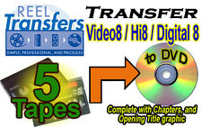 REEL TRANSFERS - Convert Video8/Hi8/Digital8  to DVD    FIVE TAPE SPECIAL!