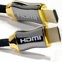 Ultra Braided HDMI v2.0 Male Cable With Ethernet HDTV 2160p 4K 3D TVs Sky GOLD