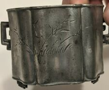 New ListingVintage Asian/Chinese/Japanese Pewter Tea Caddy Stamped