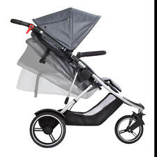 Phil & Teds Dash V5 Inline Stroller, Dash-V5-7, Grey, Double Seat Capable