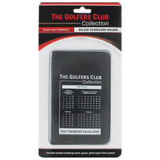 Golfers Club Collection Deluxe Leather Golf Score Card Holder Counter Matchplay