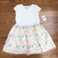 Nwt Tucker & Tate Ivory Egret Confetti Stars Girl's Dress Size 5