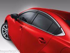 2014 - 2017 Mazda6 Genuine OEM Side Window Deflectors Visors GHK1-V3-700