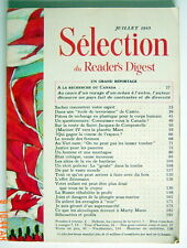 SÉLECTION DU READER'S DIGEST DE JUILLET 1965