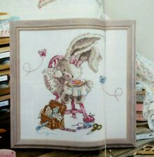 Cross stitch chart fr magazine - Bunny, cross stitching, insects, sewing box