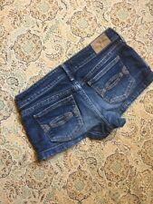 Abercrombie & Fitch Youth Girls Blue Denim Shorts Size 14 Mini Short Cute Denim