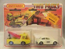 1976 Matchbox Two Packs Breakdown Truck Volkswagen TP-6 Die-Cast Metal England
