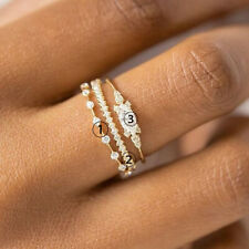 Charm Women 18K Gold White Gold Plated Ring Wedding Jewelry Christmas Gift Rings