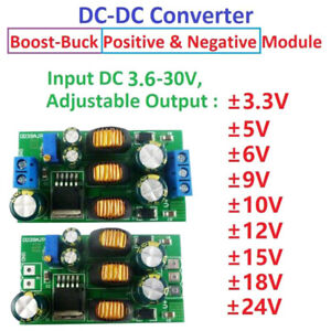 20W ±5V to ±24 Positive & Negative Dual Output Power Supply Boost Converter