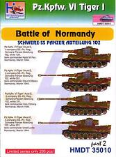 H-Models Decals 1/35 TIGER I BATTLE OF NORMANDY SCHWERE-SS PANZER ABTEILUNG 102