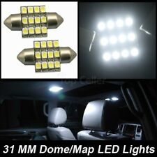 2xUSA New Xenon White 12-SMD LED 31mm Festoon Bulbs Interior Dome Map Light 3175