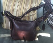 VTG Coach U.S.A. Janice's LEGACY Moca Brown Shoulder Handbag 9950 Used