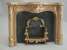 Fireplace - Cream - dollhouse miniature  wooden 1.859/3 1/12 scale Reutter