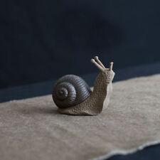 Handmade Ceramic Snail Tea Pet Table Decorative Miniature Ornament