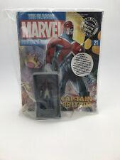 Eaglemoss Classic Marvel Figurine Collection # 21 Captain Britain + Magazine