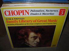 CHOPIN polonaises nocturnes etudes / funk & wagnalls 3 ( classic ) - SEALED -