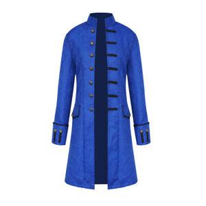 Vintage Men Halloween Victorian Coat Jacket Costume Uniform Steampunk Tailcoat