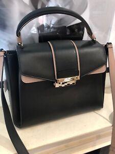 Bulgari Black Serpenti Viper Satchel Leather Bag
