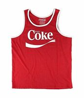 Officially Licensed Coca Cola Red Enjoy Coke Graphic Sleeveless Tank Top