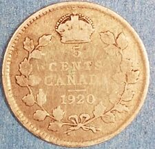 1920 Canadian Silver 5 Cent  ID #65-31