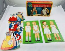 1969 Dolls Across the Sea Paper Dolls in Great Condition Free Shipping