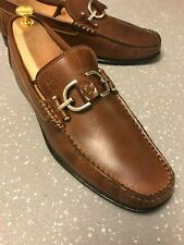 Men's Donald J Pliner Tan Leather Snaffle Bit Moc Toe Loafers UK 8 EU 42 US 9 M