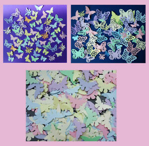 Decorative PASTEL butterflies. 3 choices(size and shapes)  Packs of 100+ Value!