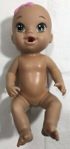 GUC Baby Alive Sips 'n Cuddles Doll Drink & Wets Tan Skin Color & Green Eyes