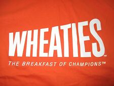 "WHEATIES ""Breakfast of Champions"" Cereal (LARGE) T-Shirt ORANGE & WHITE"