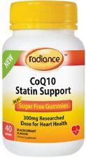 Radiance CoQ10 Statin Support 40 Gummies SUGAR FREE 300mg with Ubidecaronone